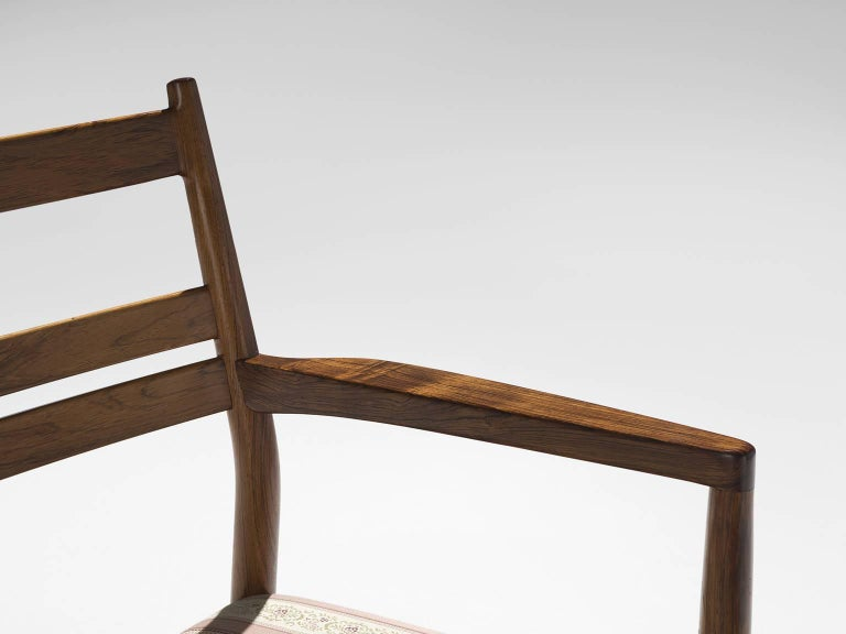 Danish Rosewood Dining Chairs, 1960s In Good Condition For Sale In Waalwijk, NL