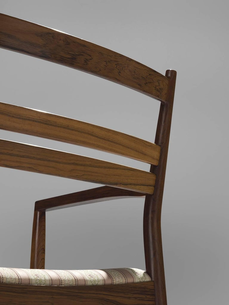 Wool Danish Rosewood Dining Chairs, 1960s For Sale