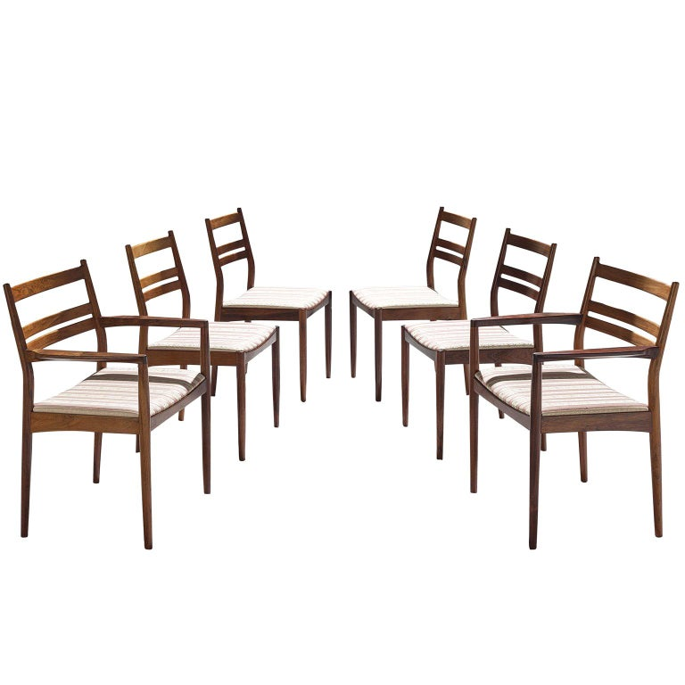 Danish Rosewood Dining Chairs, 1960s For Sale
