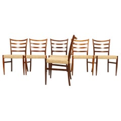 Danish Rosewood Dining Chairs by Schou Andersen 1960s Set of 6
