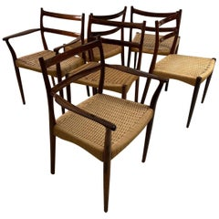 Danish Rosewood Dining Chairs by Soren Lodefoged for Mobler 1960s, Set of 6