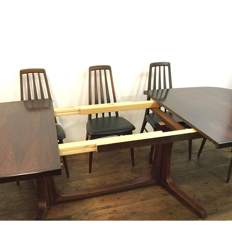 Danish Rosewood Dining Table Set Including 8 Quot Eva Quot Chairs