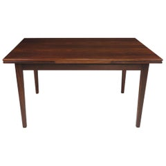 Danish Rosewood Dining Table with Draw-Leaves