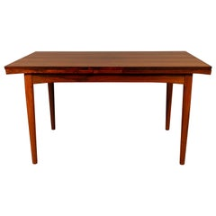 Danish Rosewood Dining Table with Extension Leaves 1960s