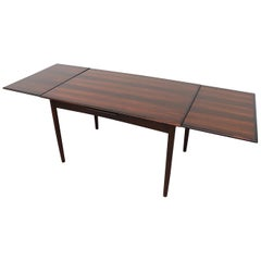 Danish Rosewood Dining Table with Leaf Extension