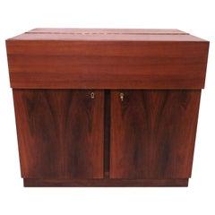 Danish Rosewood Dry Bar Cabinet, circa 1960s
