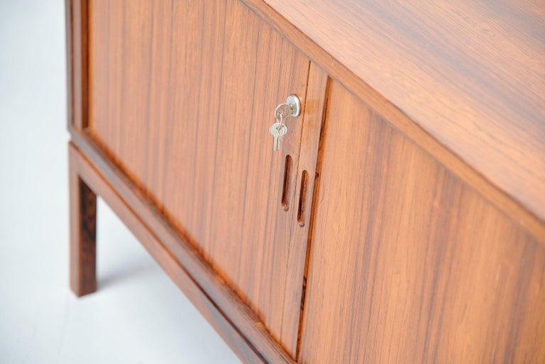Mid-20th Century Danish Rosewood Drybar Cabinet Unusual Shaped Denmark, 1960 For Sale