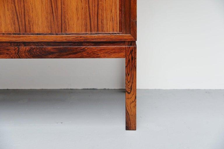 Danish Rosewood Drybar Cabinet Unusual Shaped Denmark, 1960 For Sale 2
