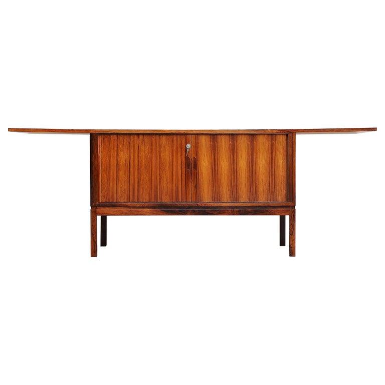 Danish Rosewood Drybar Cabinet Unusual Shaped Denmark, 1960 For Sale