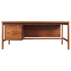 Danish Rosewood Executive Desk by Arne Vodder for H.P Hansen