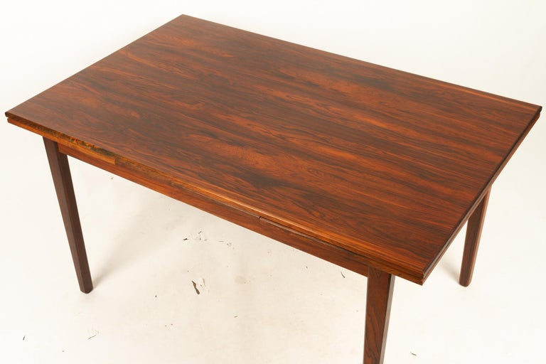Danish Rosewood Extendable Dining Table, 1960s For Sale 8
