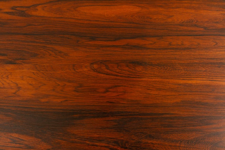 Danish Rosewood Extendable Dining Table, 1960s For Sale 11