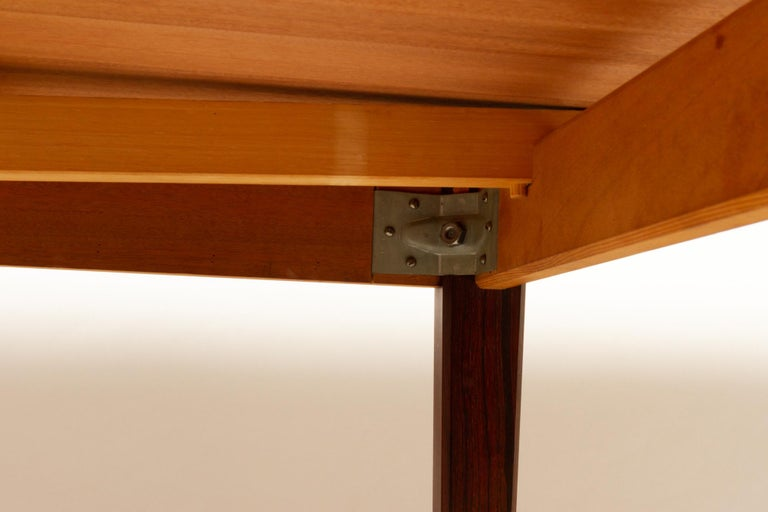 Danish Rosewood Extendable Dining Table, 1960s For Sale 13