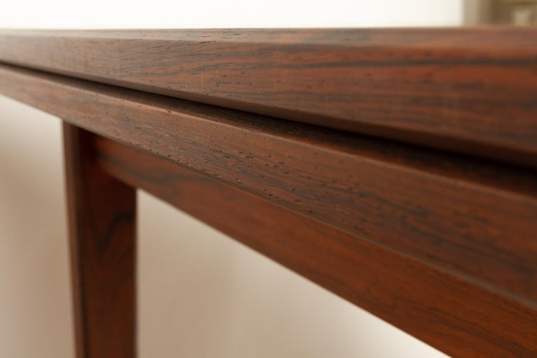 Danish Rosewood Extendable Dining Table, 1960s For Sale 14