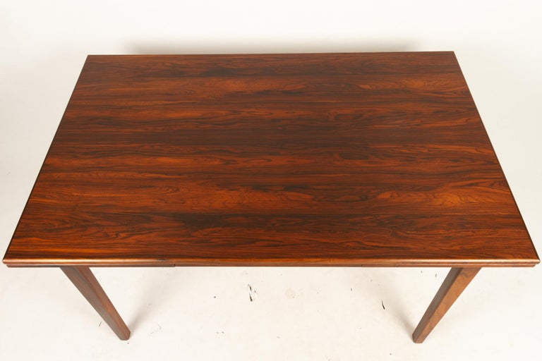 Danish Rosewood Extendable Dining Table, 1960s In Good Condition For Sale In Nibe, Nordjylland