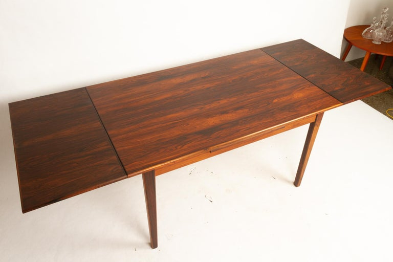 Mid-20th Century Danish Rosewood Extendable Dining Table, 1960s For Sale