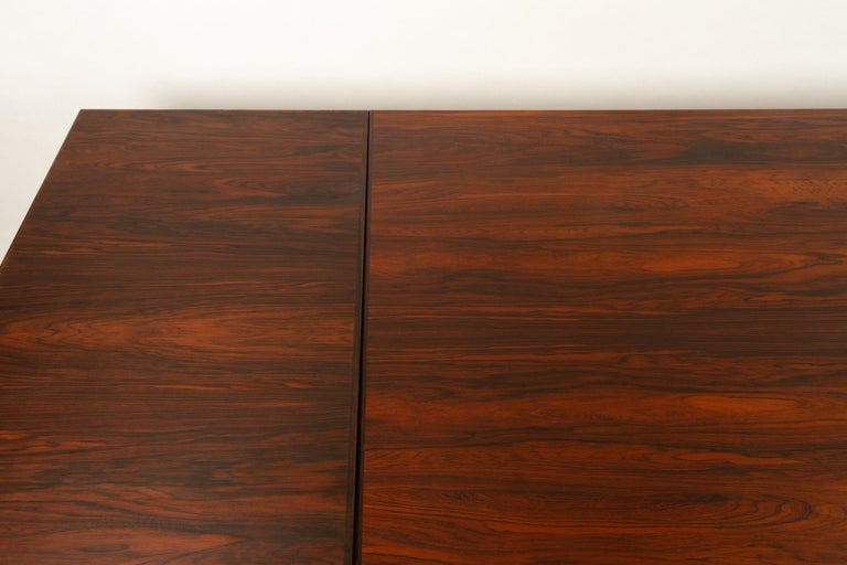 Danish Rosewood Extendable Dining Table, 1960s For Sale 1