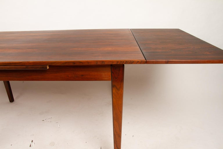 Danish Rosewood Extendable Dining Table, 1960s For Sale 2