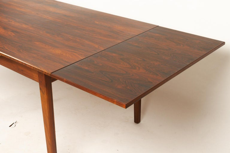 Danish Rosewood Extendable Dining Table, 1960s For Sale 3