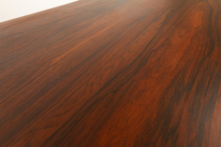 Danish Rosewood Extendable Dining Table, 1960s For Sale 4