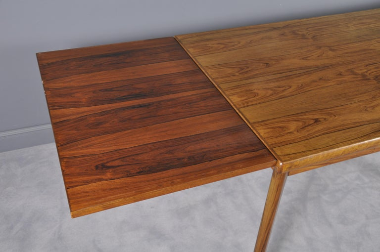 Danish Rosewood Extendable Dining Table by Henning Kjærnulf for Vejle,1960s For Sale 5