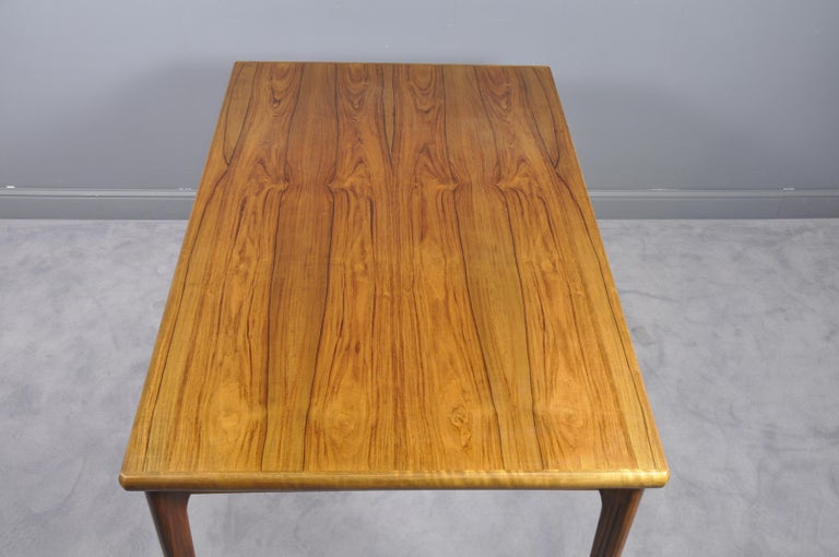 Danish Rosewood Extendable Dining Table by Henning Kjærnulf for Vejle,1960s For Sale 6