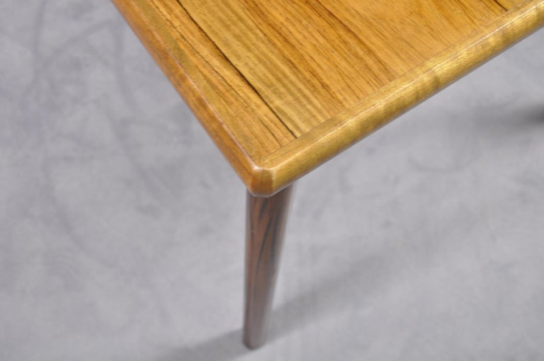 Danish Rosewood Extendable Dining Table by Henning Kjærnulf for Vejle,1960s For Sale 7