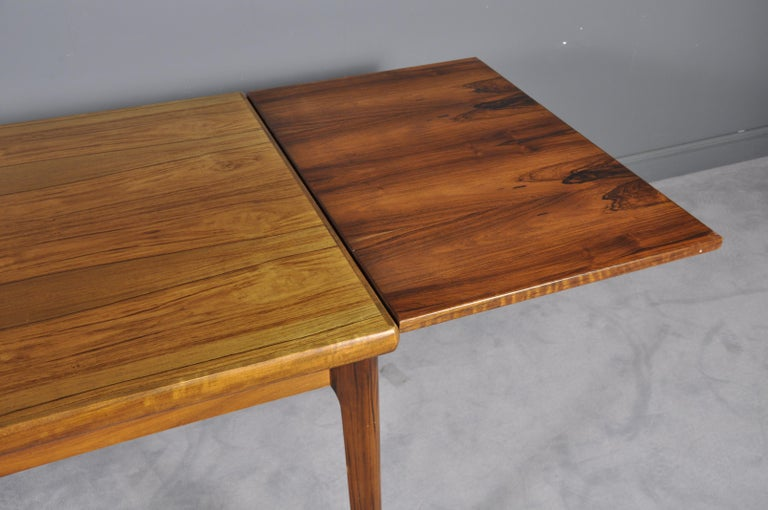 Danish Rosewood Extendable Dining Table by Henning Kjærnulf for Vejle,1960s For Sale 3