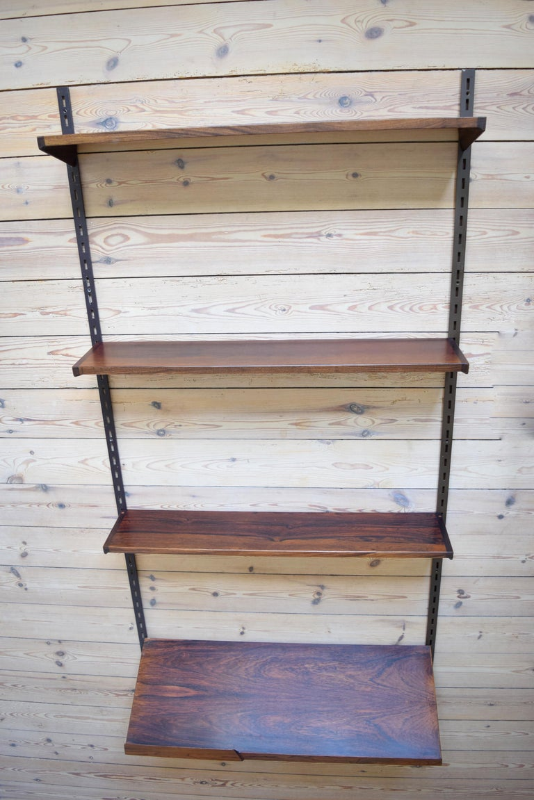 Mid-20th Century Danish Rosewood Fm Shelving System by Kai Kristiansen, 1960s For Sale