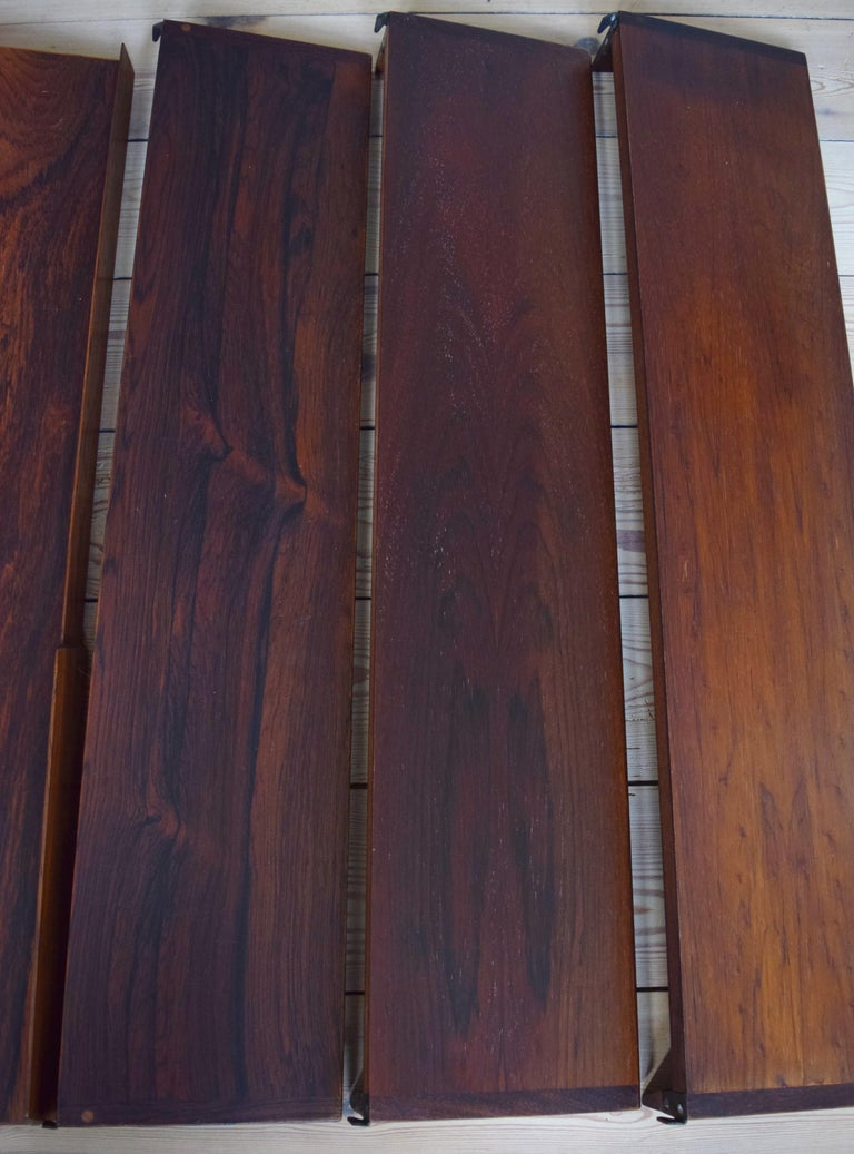 Danish Rosewood Fm Shelving System by Kai Kristiansen, 1960s For Sale 1