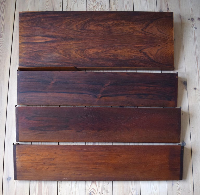 Danish Rosewood Fm Shelving System by Kai Kristiansen, 1960s For Sale 3