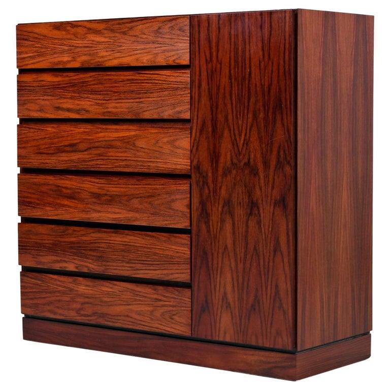 Danish Rosewood Gentleman's Dresser, Arne Wahl Iversen for Vinde Møbelfabrik For Sale