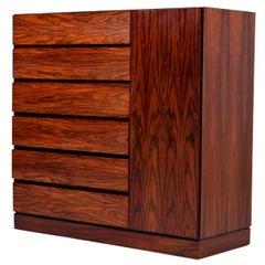 Danish Rosewood Gentleman's Dresser, Arne Wahl Iversen for Vinde Møbelfabrik
