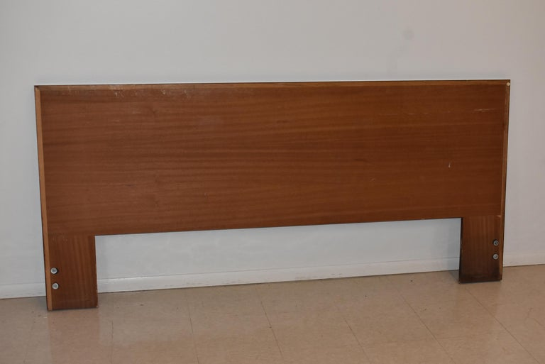 Danish Rosewood King Size Mid-Century Modern Headboard In Good Condition For Sale In Toledo, OH