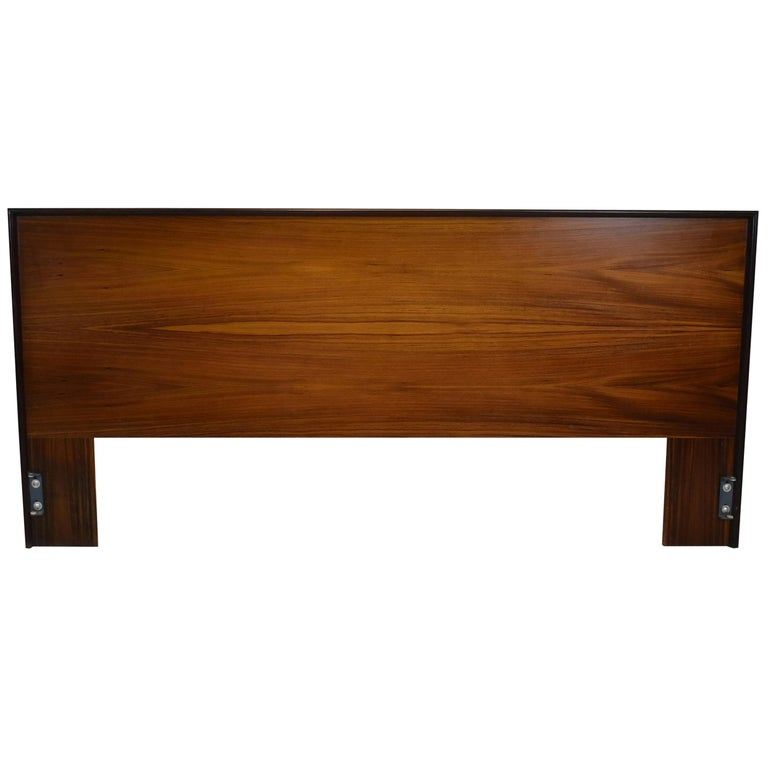 Danish Rosewood King Size Mid-Century Modern Headboard For Sale