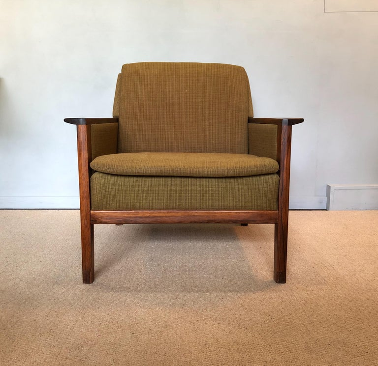 Danish Rosewood Lounge Chair Midcentury Hans Olsen For