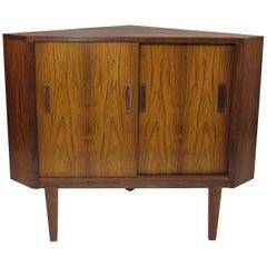 Danish Rosewood Low Corner Cabinet