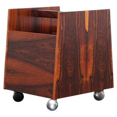 Danish Rosewood Magazine or Record Stand by Rolf Hesland