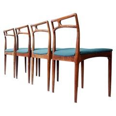 Danish Rosewood Mid-Century Dining Chairs Johannes Andersen Christian Linneberg