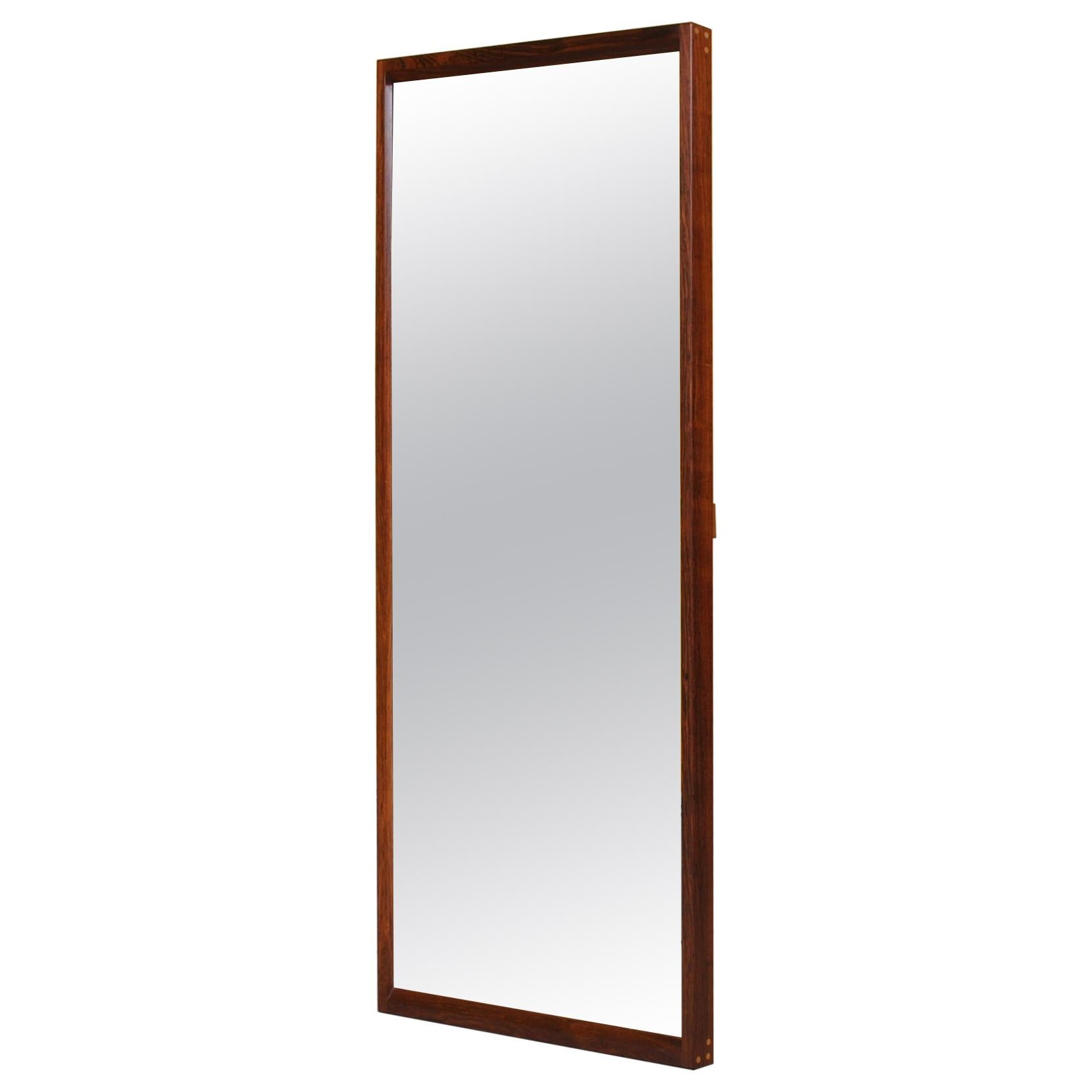 Danish Rosewood Midcentury Mirror, Aksel Kjersgaard