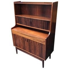 Danish Rosewood Midcentury Writing Bureau Desk by Bornholm Møbelfabrik