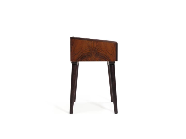 Oiled Danish Rosewood Nightstand Side Tables with Drawers For Sale