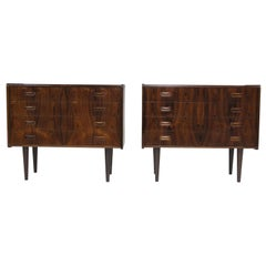 Danish Rosewood Nightstands Cabinets, a Pair