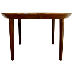 Danish Rosewood Round Dining Table, 1960s