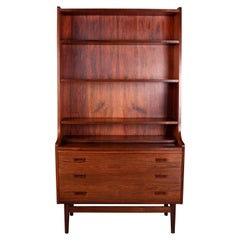 Danish Rosewood Secretaire Bookshelf by Johannes Sorth, 1960s