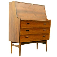 Danish Rosewood Secretary by Arne Wahl Iversen for Vinde Møbelfabrik, 1960s