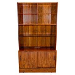 Danish Rosewood Shelf Bookcase on Cabinet Base, Poul Hundevad