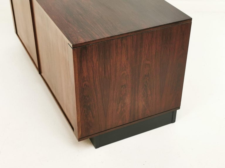 Mid-Century Modern Danish Rosewood Sideboard Cabinet by Hornslet Mobelfabrik, Midcentury, 1960s For Sale