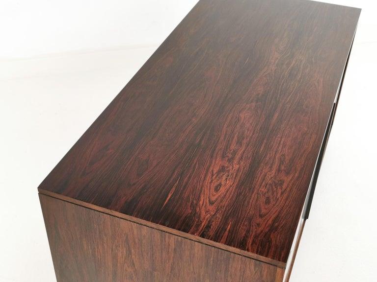 20th Century Danish Rosewood Sideboard Cabinet by Hornslet Mobelfabrik, Midcentury, 1960s For Sale