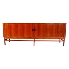 Danish Rosewood Sideboard with Tambour Doors